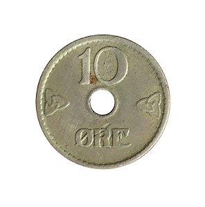 Moeda Antiga da Noruega 10 Ore 1925