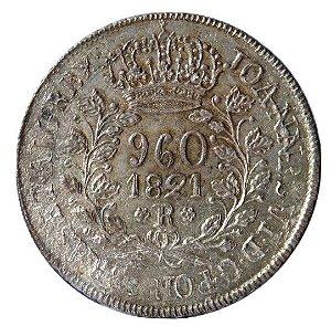 Moeda Antiga do Brasil 960 Réis 1821R
