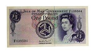 Cédula Antiga de Isle of Man One Pound ND(1972)