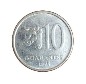 Moeda Antiga do Paraguai 10 Guaranies 1975