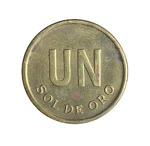 Moeda Antiga do Peru Un Sol de Oro 1975