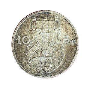Moeda Antiga de Portugal 10 Escudos 1955