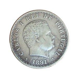 Moeda Antiga de Portugal 500 Réis 1891