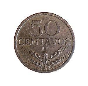 Moeda Antiga de Portugal 50 Centavos 1972