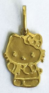 Pingente Hello kitty - Joia de Ouro 18 quilates