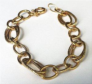 Pulseira Anéis de Ouro - Joia de Ouro 18 quilates