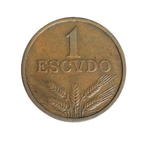 Moeda Antiga de Portugal 1 Escudo 1969