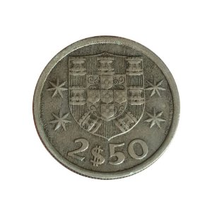 Moeda Antiga de Portugal 2,50 Escudos 1965