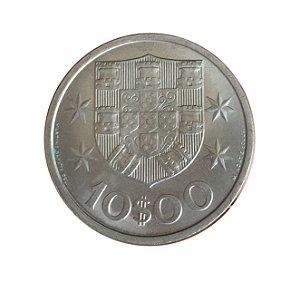 Moeda Antiga de Portugal 10 Escudos 1971