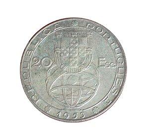Moeda Antiga de Portugal 20 Escudos 1953