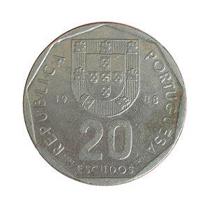 Moeda Antiga de Portugal 20 Escudos 1988
