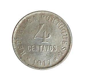 Moeda Antiga de Portugal 4 Centavos 1917