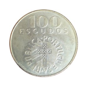 Moeda Antiga de Portugal 100 Escudos ND(1976)