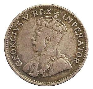 Moeda Antiga da África do Sul 3 Dimes 1932