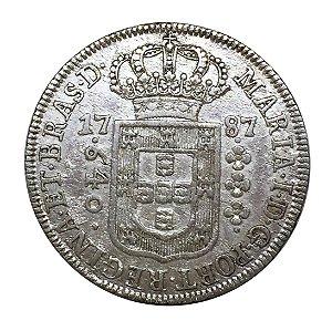Moeda Antiga do Brasil 640 Réis 1787 Coroa Baixa