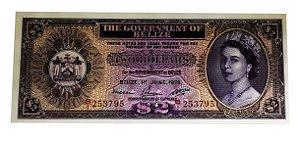 Cédula Antiga de Belize $2 1975
