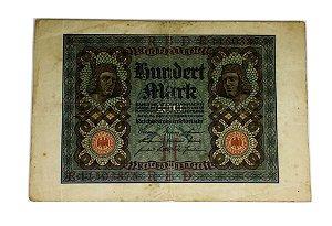 Cédula Antiga da Alemanha 100 Mark 1920