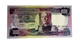 Cédula Antiga de Angola 1000 Escudos 1972