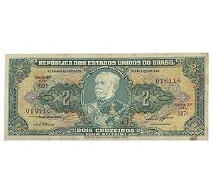 Cédula Antiga do Brasil 2 Cruzeiros 1958