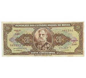 Cédula Antiga do Brasil 20 Cruzeiros 1962