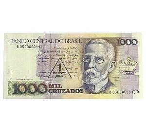 Cédula Antiga do Brasil 1 Cruzado Novo 1989
