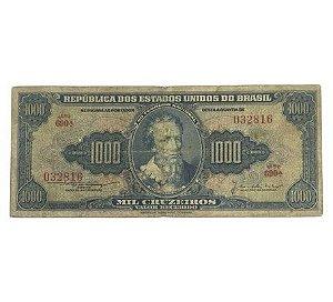 Cédula Antiga do Brasil 1000 Cruzeiros 1955