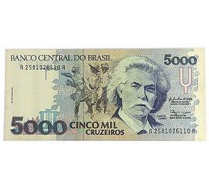 Cédula Antiga do Brasil 5000 Cruzeiros 1990