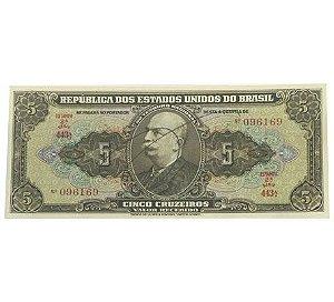Cédula Antiga do Brasil 5 Cruzeiros 1950 Autografada
