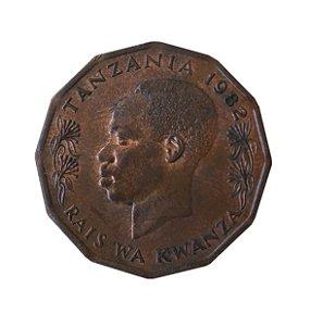 Moeda Antiga da Tanzânia 5 Senti 1982