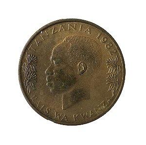 Moeda Antiga da Tanzânia 20 Senti 1982