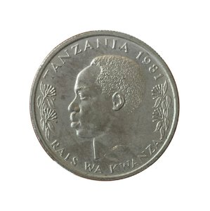Moeda Antiga da Tanzânia 50 Senti 1981