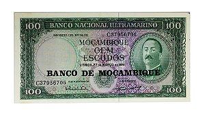 Cédula Antiga de Moçambique 100 Escudos 1961