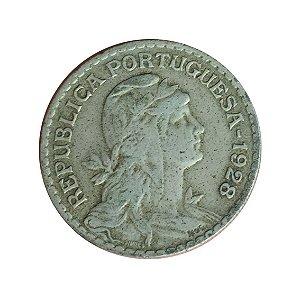 Moeda Antiga de Portugal 1 Escudo 1928