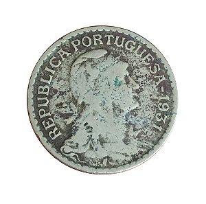 Moeda Antiga de Portugal 1 Escudo 1931