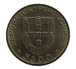 Moeda Antiga de Portugal 5 Escudos 1977 - Centenário da Morte de Alexandre Herculano