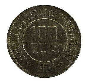 Moeda Antiga do Brasil 100 Réis 1934