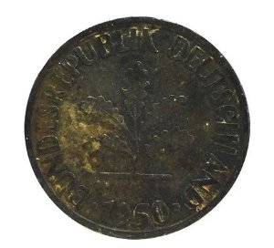 Moeda Antiga da Alemanha 10 Pfennig 1950 J
