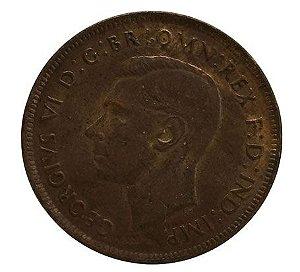 Moeda Antiga da Austrália 1 Penny 1938