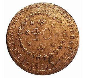 Moeda Antiga do Brasil 40 Réis 1830 R
