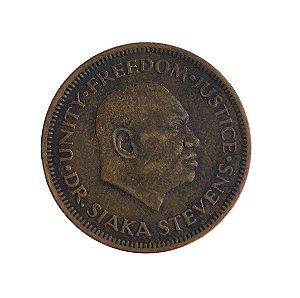 Moeda Antiga de Serra Leoa Cent 1980