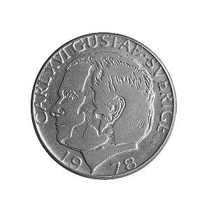 Moeda Antiga da Suécia 1 Krona 1978 U