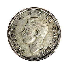 Moeda Antiga da Inglaterra 1 Shilling 1939