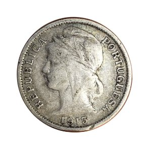 Moeda Antiga de Portugal 20 Centavos 1913