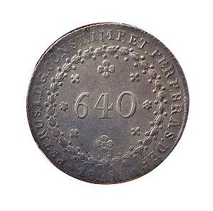 Moeda Antiga do Brasil 640 Réis 1825R