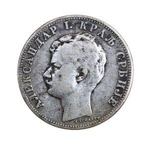 Moeda Antiga da Sérvia 2 Dinara 1897