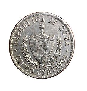 Moeda Antiga de Cuba 5 Centavos 1946