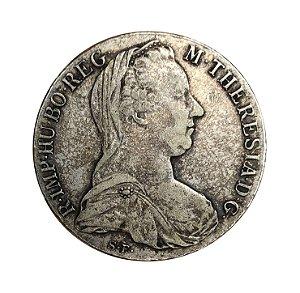 Moeda Antiga da Áustria Thaler 1780 X - Restrike