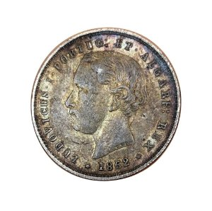 Moeda Antiga de Portugal 200 Réis 1862