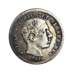 Moeda Antiga de Portugal 500 Réis 1857