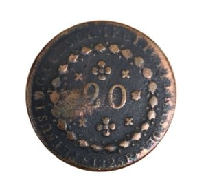 Moeda Antiga do Brasil 20 Réis 1825 R